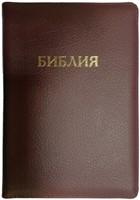 Библия на замке, кожа бордовая 047 ZT
