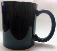 Кружка-хамелеон черная, глянцевая, Пр. 10:6, 300 мл